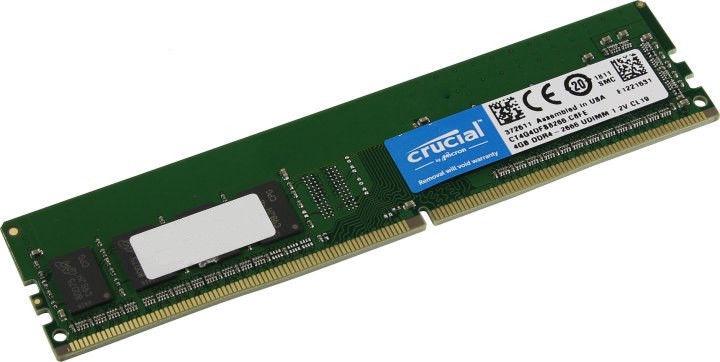 Crucial 4GB 2666MHz CL19 DDR4 CT4G4DFS8266.C8FE