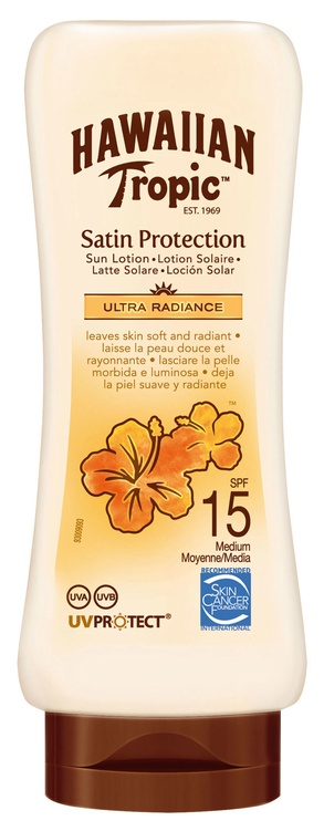 Hawaiian Tropic Satin Protection Ultra Radiance Sun Lotion SPF15 180ml