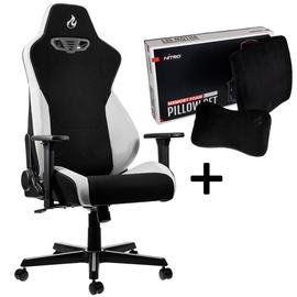 Nitro Concepts Gaming Chair S300 Black/White+Nitro Concepts Memory Pillow Set