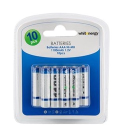 Whitenergy rechargeable battery 10 x AAA 1100mAh Blister