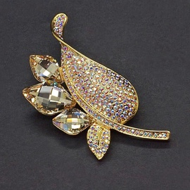 Diamond Sky Brooch Crystal Branch II With Swarovski Crystals
