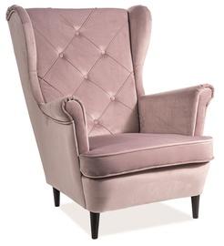 Tugitool Signal Meble Lady Velvet Antique Pink, 75x85x101 cm
