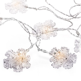 Jõulutuled DecoKing Kaleo Snowflake Clear LED w/ Clips, 10 tk