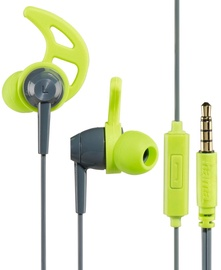 Hama Action In-Ear Stereo Headphones Grey/Green