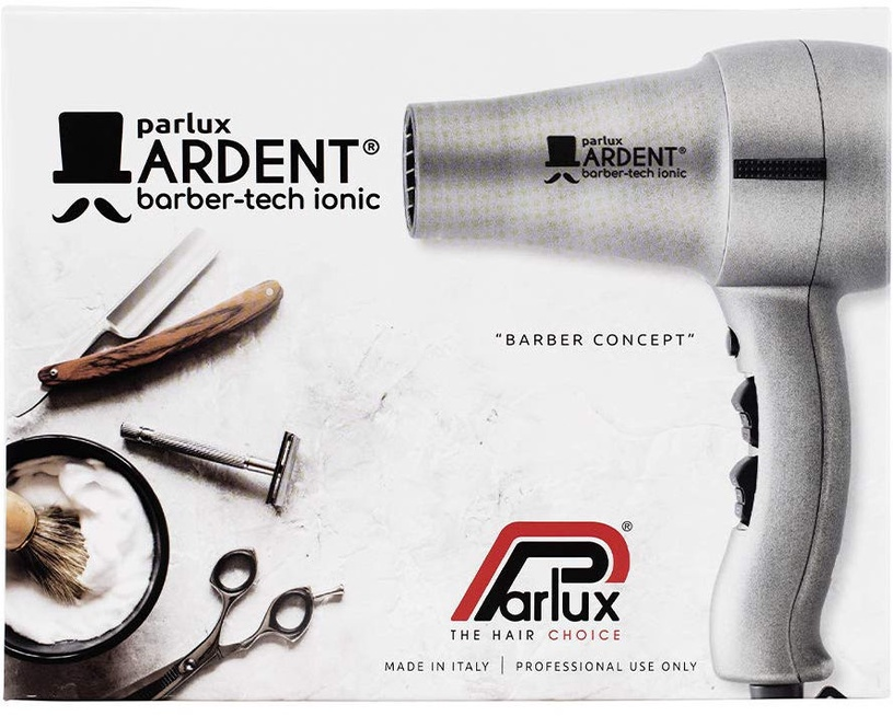 Parlux Hairdryer Ardent Barber Tech-Ionic Silver