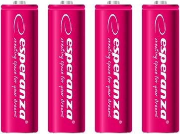 Esperanza Rechargeable Batteries 4x AA 2000mAh Red