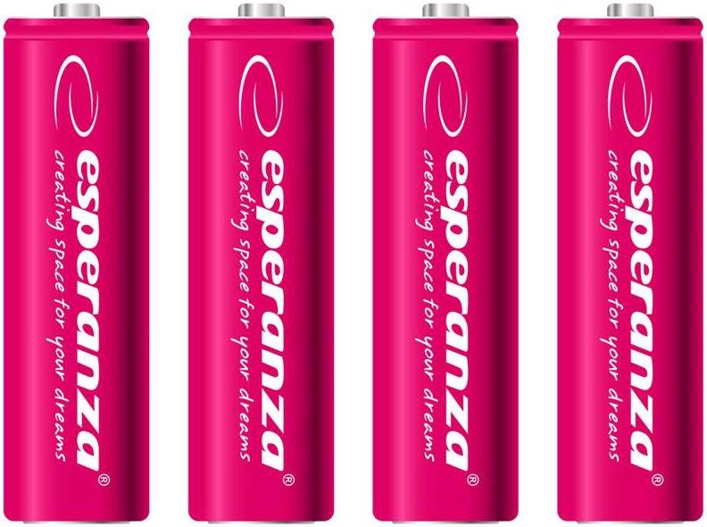 Esperanza Rechargaeble Batteries 4x AA 2000mAh Red