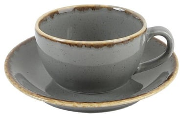 Porland Seasons Cup With Saucer 20.7cl Dark Grey