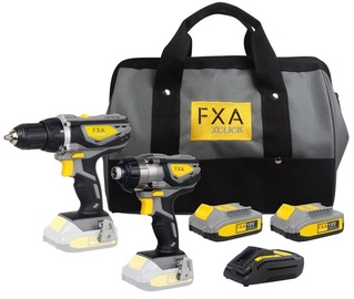 Akutööriistade komplekt FXA XClick Combokit, 18V