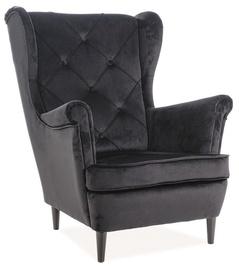 Tugitool Signal Meble Lady Velvet Black, 75x85x101 cm