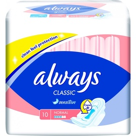 Always Classic Sensitive Pads 10pcs