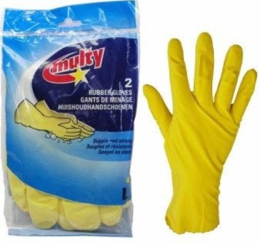 Multy Rubber Gloves 2pcs Size L