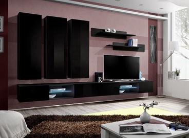 ASM Fly Q1 Living Room Wall Unit Set Black