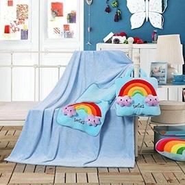 Одеяло DecoKing Cuties Sky Blue Smiles, 110x160 см