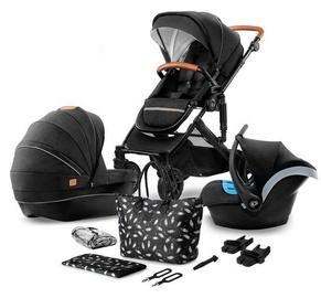Универсальная коляска KinderKraft Prime Lite 3in1 With Bag Black