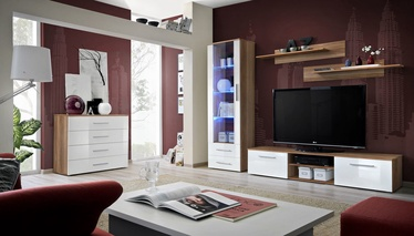 ASM Galino B Wall Unit Plum/White Gloss