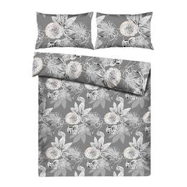 Комплект постельного белья Domoletti HAR/7118 White/Gray, 160x200 cm/50x70 cm