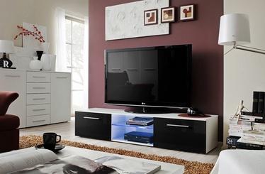 ТВ стол ASM Bono III White/Black Gloss, 1800x450x350 мм