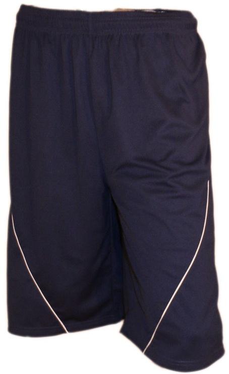 Bars Mens Football Shorts Dark Blue 188 XXL