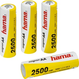 Hama Rechargeable NiMH Batteries 4 x AA 2.5A/1.2V
