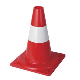Hongqiao Plastic Cone Red/White 300mm