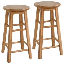 Барный стул Home4you Promo Brown D30xH61cm, 2 шт.