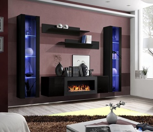 ASM Fly M2 Living Room Wall Unit Set Black