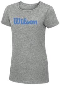 Wilson Womens Script Cotton Tee Grey L