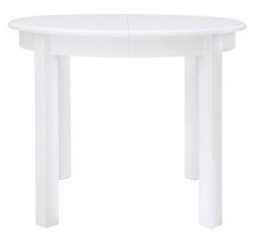 Обеденный стол Black Red White Rolesław II White, 950x950x760 мм