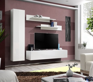 ASM Fly G Living Room Wall Unit Set White/White Glass