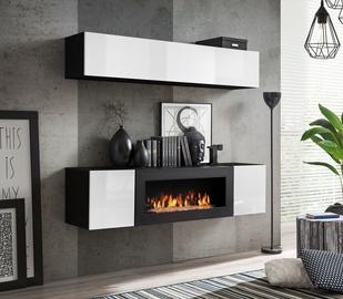 ASM Fly N1 Living Room Wall Unit Set White/Black