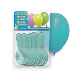 SN Pastel Opaque Balloons 12pcs Turquoise
