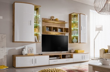 ASM Jelly Living Room Wall Unit Set Wotan Oak/White