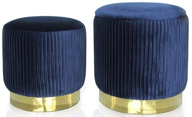 Пуф Homede Arya Navy Blue, 34x34x32 см