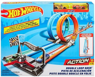 Mattel Hot Wheels Double Loop Dash Track Set GFH85