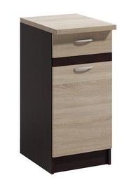 Нижний кухонный шкаф WIPMEB Livia LV-10/D 40 S1 Sonoma Oak, 400x445x820 мм
