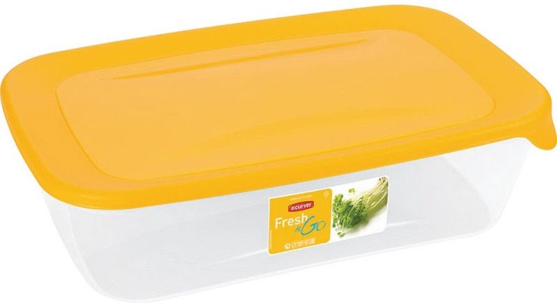 Curver Food Container Rectangle 2L Fresh&Go Yellow