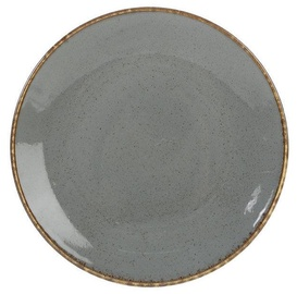 Porland Seasons Dinner Plate D24cm Dark Grey