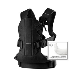 BabyBjorn Baby Carrier One With Bib Tencel Black 698001