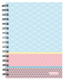 Herlitz Spiral Notepad A5/100p Pastel Blue