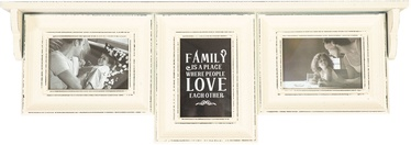 Home4you Family Photo Frame/Shelf 3x Antique Beige