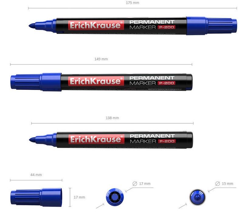 ErichKrause Permanent Marker P-200 Blue
