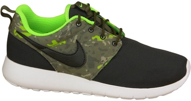 Nike Running Shoes Roshe One Print Gs 677782-008 Black/Green 38.5