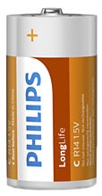 Philips R14 LongLife Battery x2