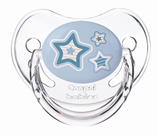 Canpol Babies Newborn Baby Orthodontic Silicone Soother Blue Stars