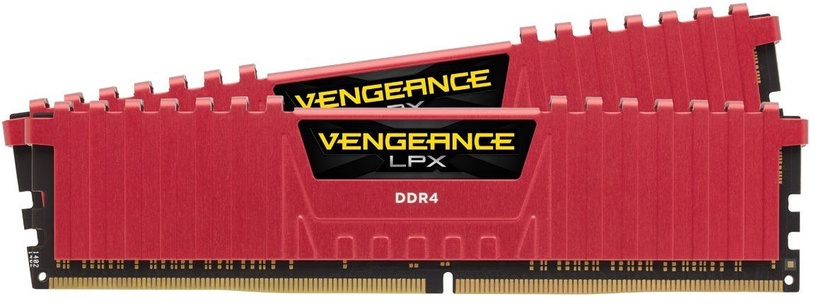 Corsair Vengeance LPX for AMD Ryzen Red 16GB 2666MHz CL16 DDR4 KIT OF 2 CMK16GX4M2Z2666C16