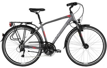 """Jalgratas Kross Trans 4.0 M 28"""" Graphite Red Silver Matte 18"""