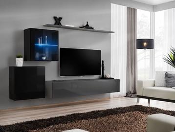 ASM Switch XV Living Room Wall Unit Set Black/Graphite