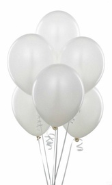 Õhupallid, valge, pakis 12 tk, 32x25 cm