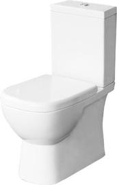 WC-pott Sanita Luxe Quadro 2 SL DM, kaanega, 350x625 mm